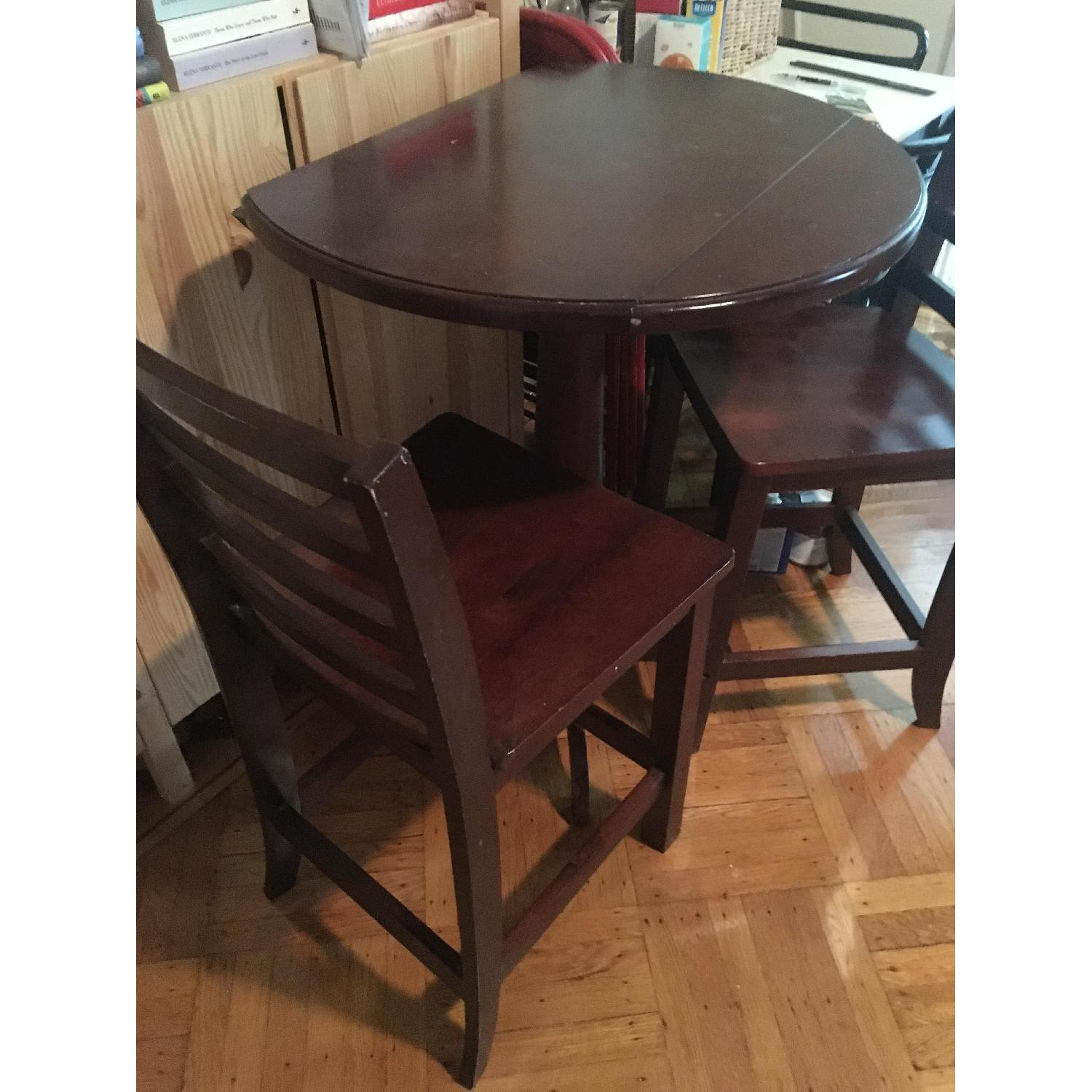 Wood Pub Table w/ 2 Chairs - image-4