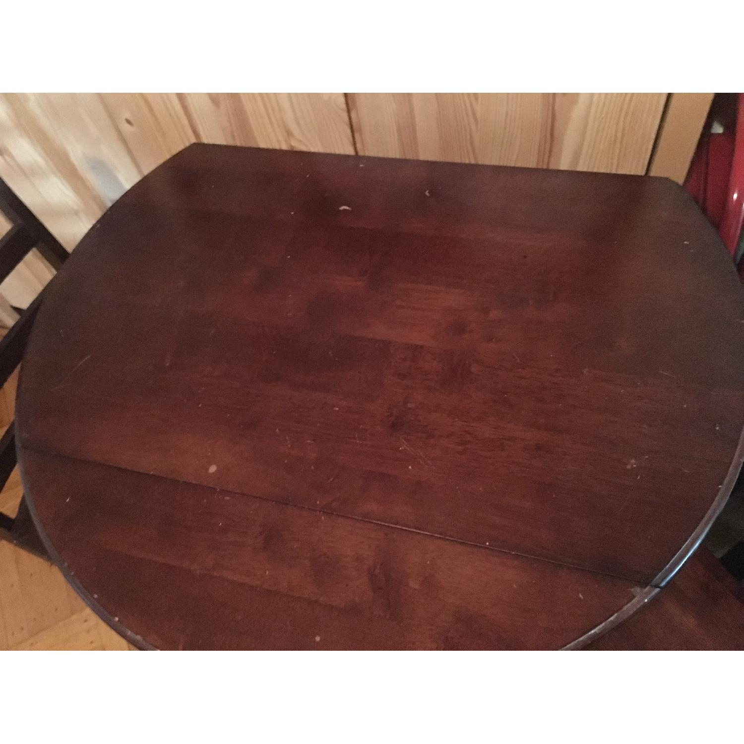 Wood Pub Table w/ 2 Chairs - image-5
