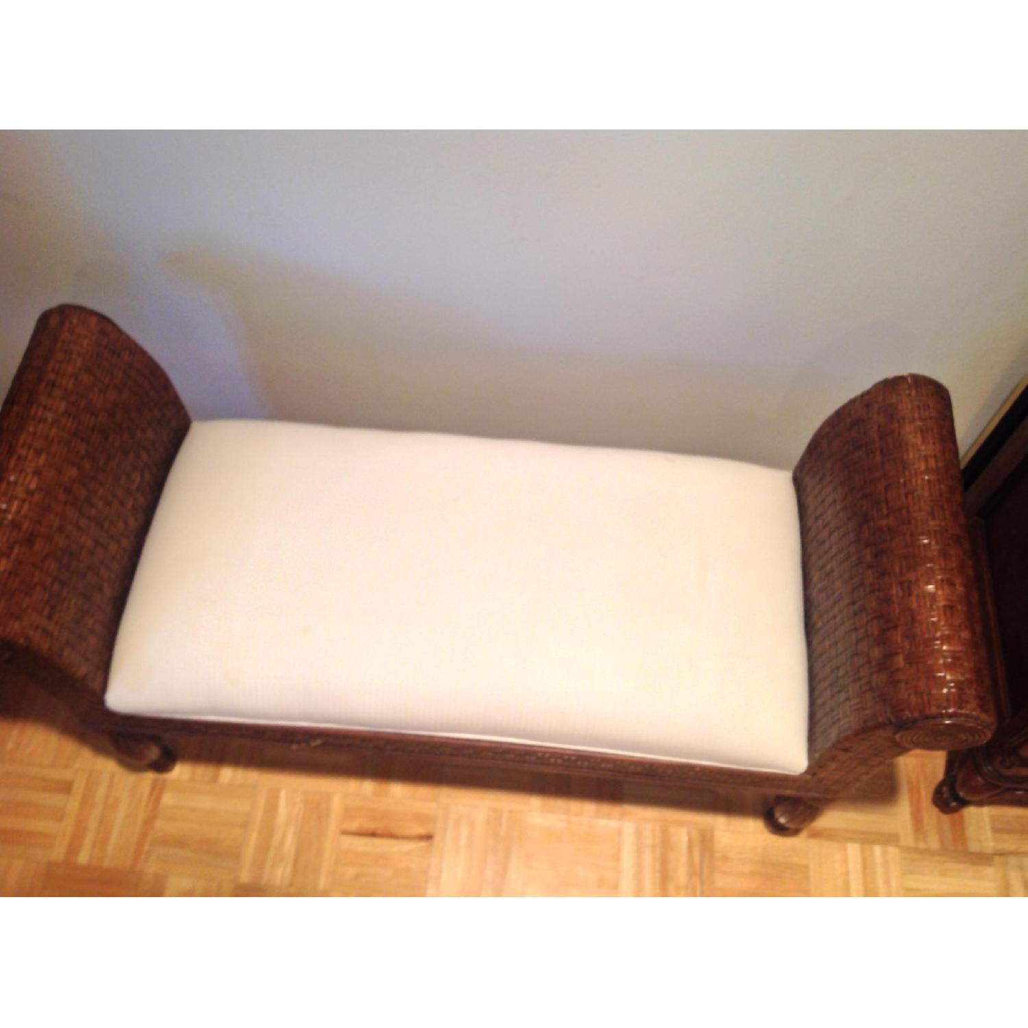 Ethan Allen Wicker Bench - image-3