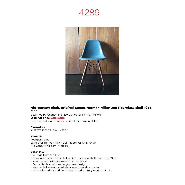 Eames Herman Miller Mid Century Chair - image-5