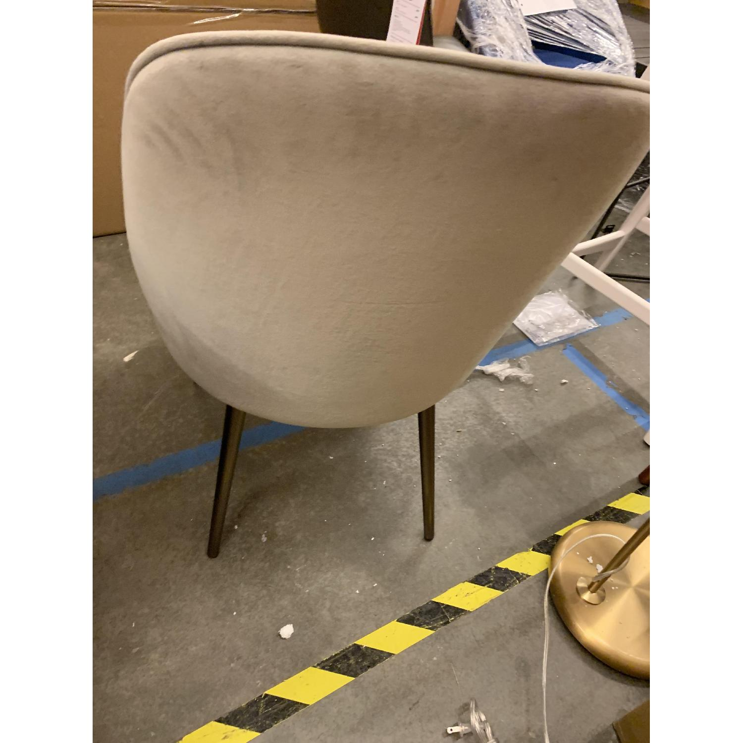 West Elm Mid-Century Upholstered Dining Chair in Dove Grey - image-2
