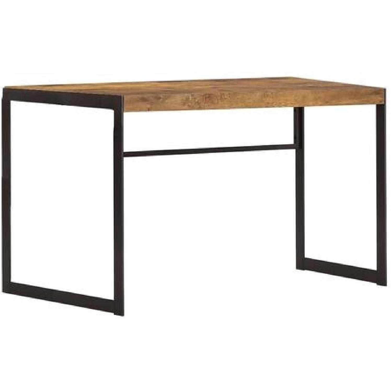 Antique Nutmeg Desk With Gunmetal Legs - image-1