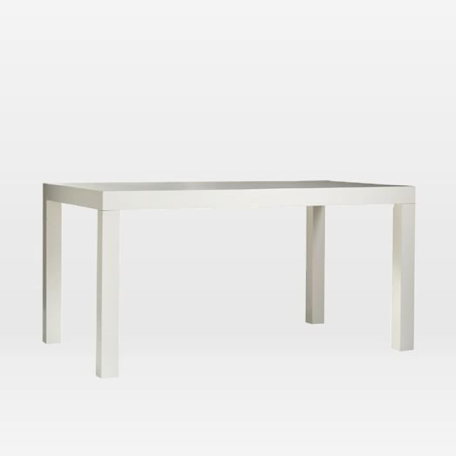 West Elm White Parsons Dining Table - image-3