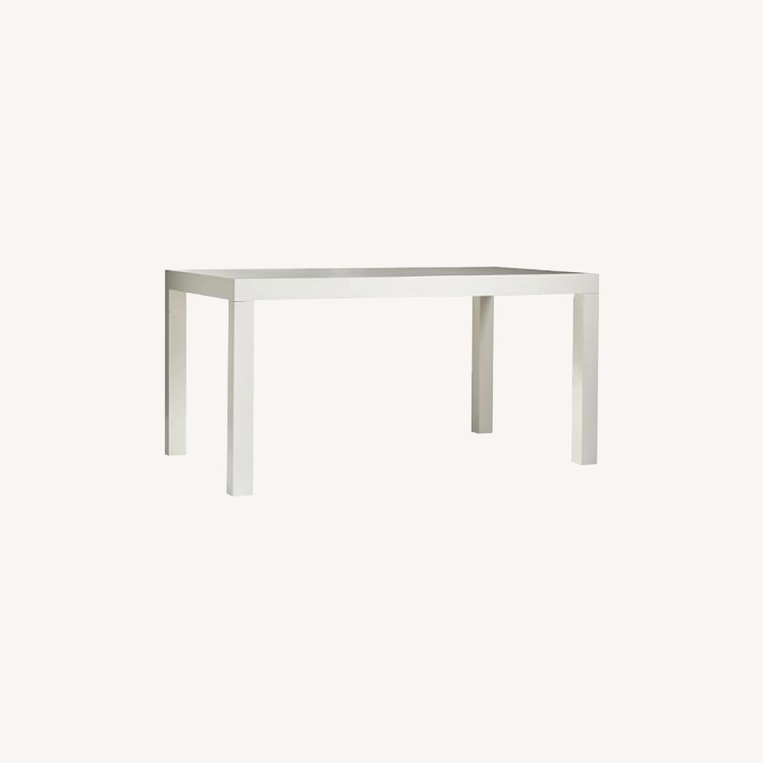 West Elm White Parsons Dining Table - image-4