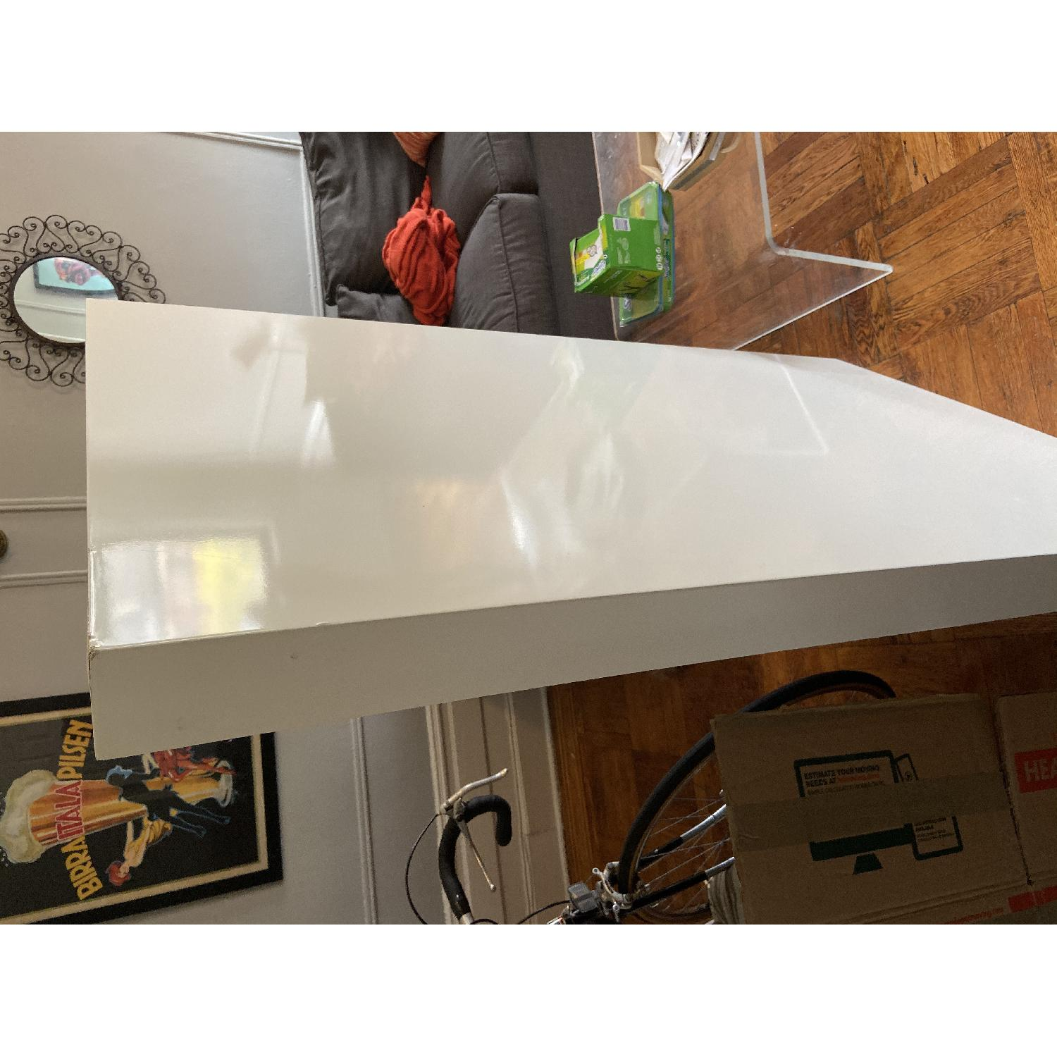 West Elm White Parsons Dining Table - image-6