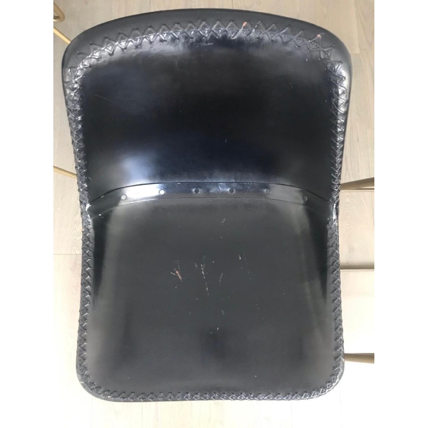 CB2 Roadhouse Black Leather Counter Stools - image-4