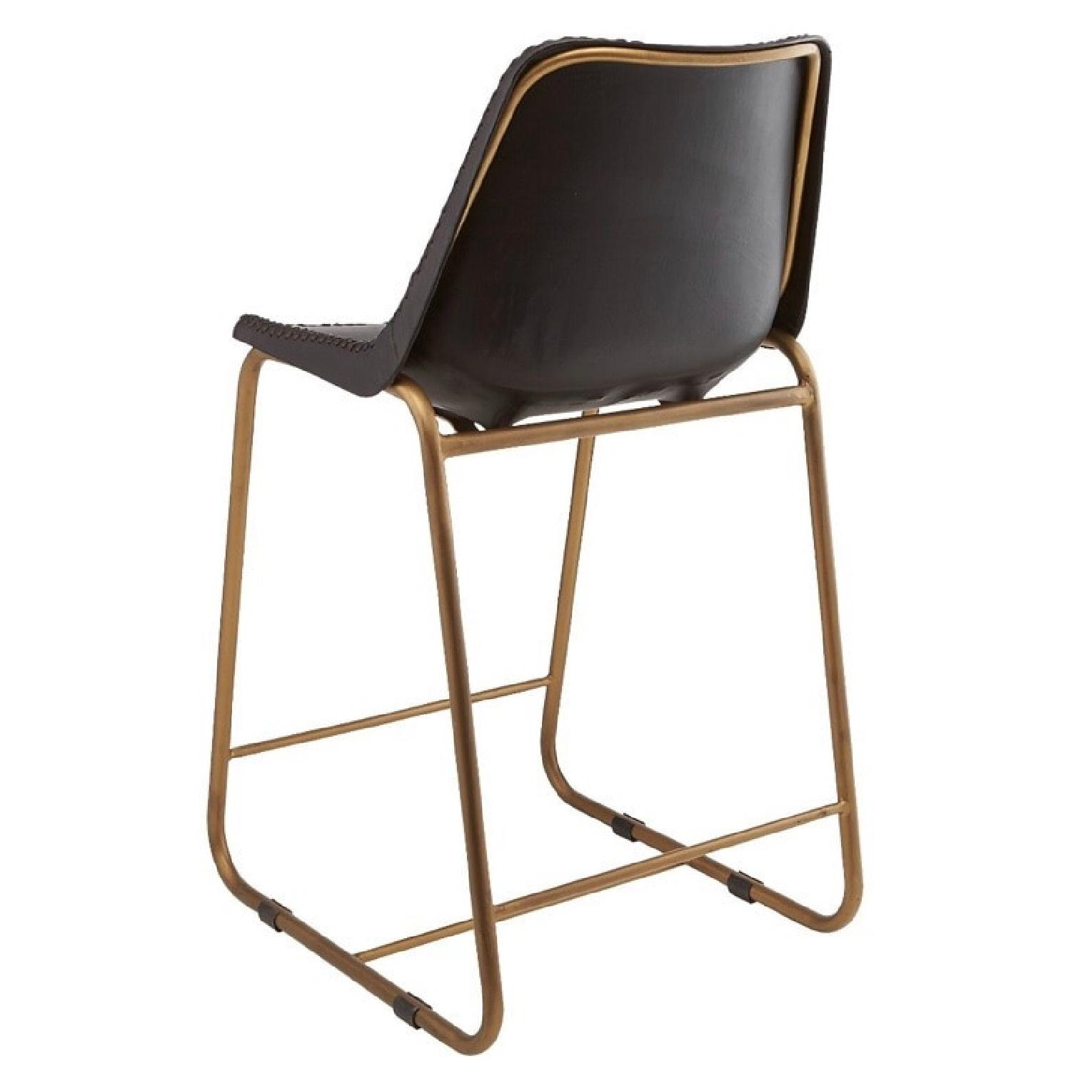 CB2 Roadhouse Black Leather Counter Stools - image-1