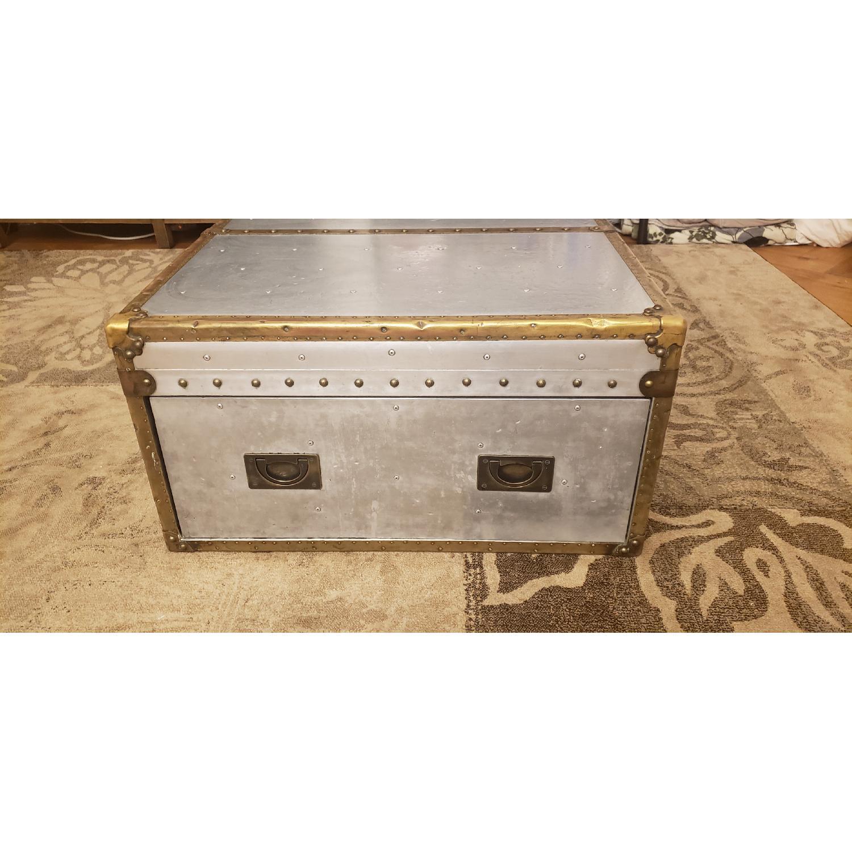 Restoration Hardware Aviator Coffee Trunk - image-2