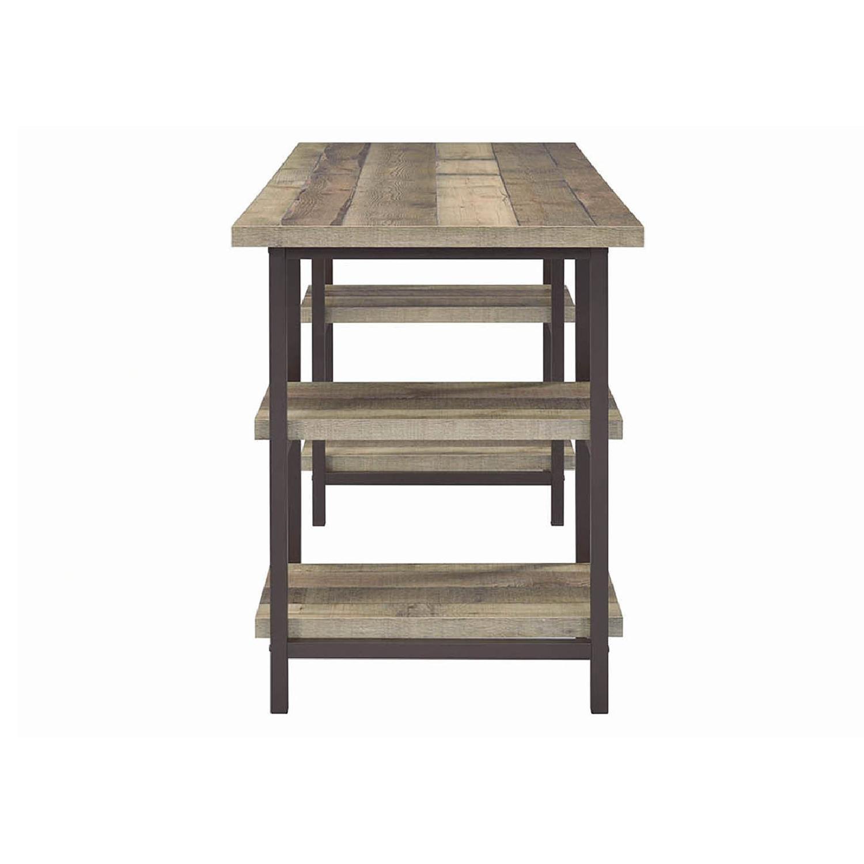 Weathered Pine Desk in Dark Bronze Finish - image-3
