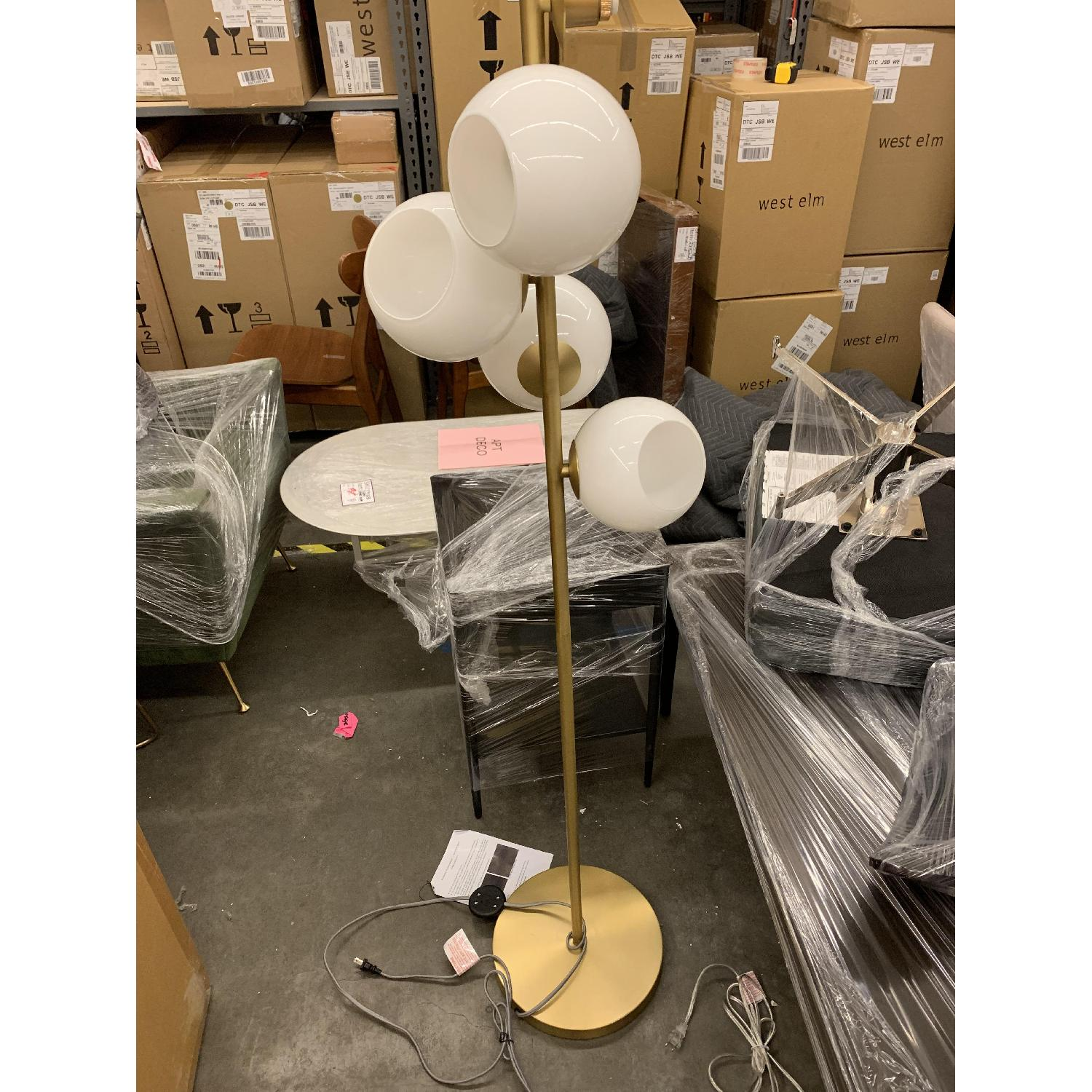 West Elm Staggered Glass Floor Lamp - image-3