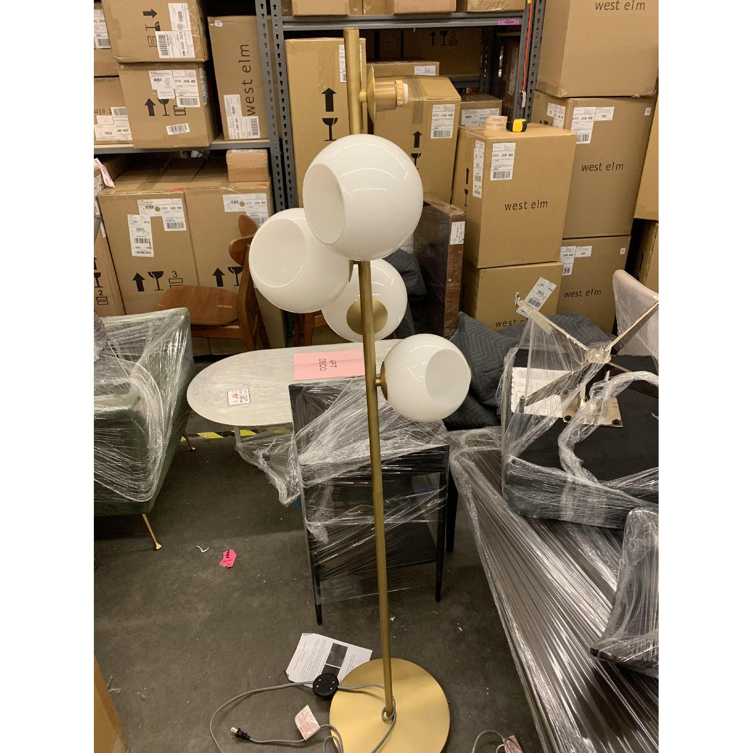 West Elm Staggered Glass Floor Lamp - image-2