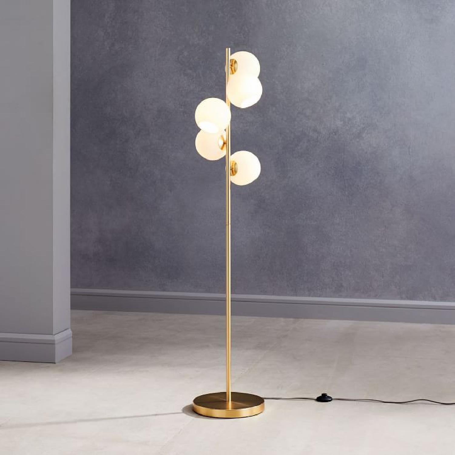 West Elm Staggered Glass Floor Lamp - image-4