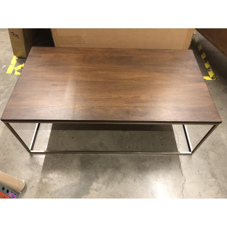 West Elm Streamline Rectangle Coffee Table - image-2