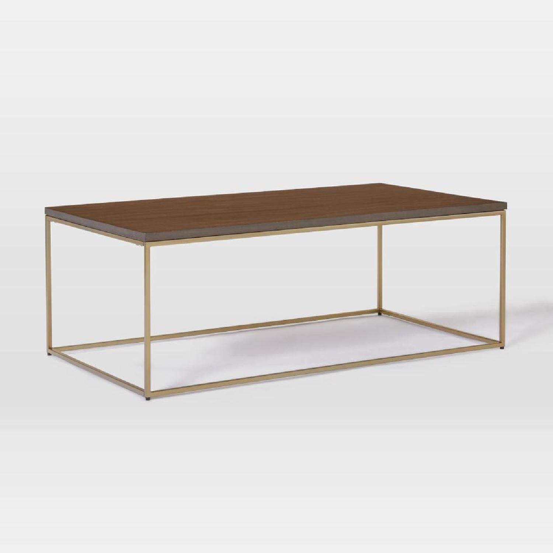 West Elm Streamline Rectangle Coffee Table - image-0