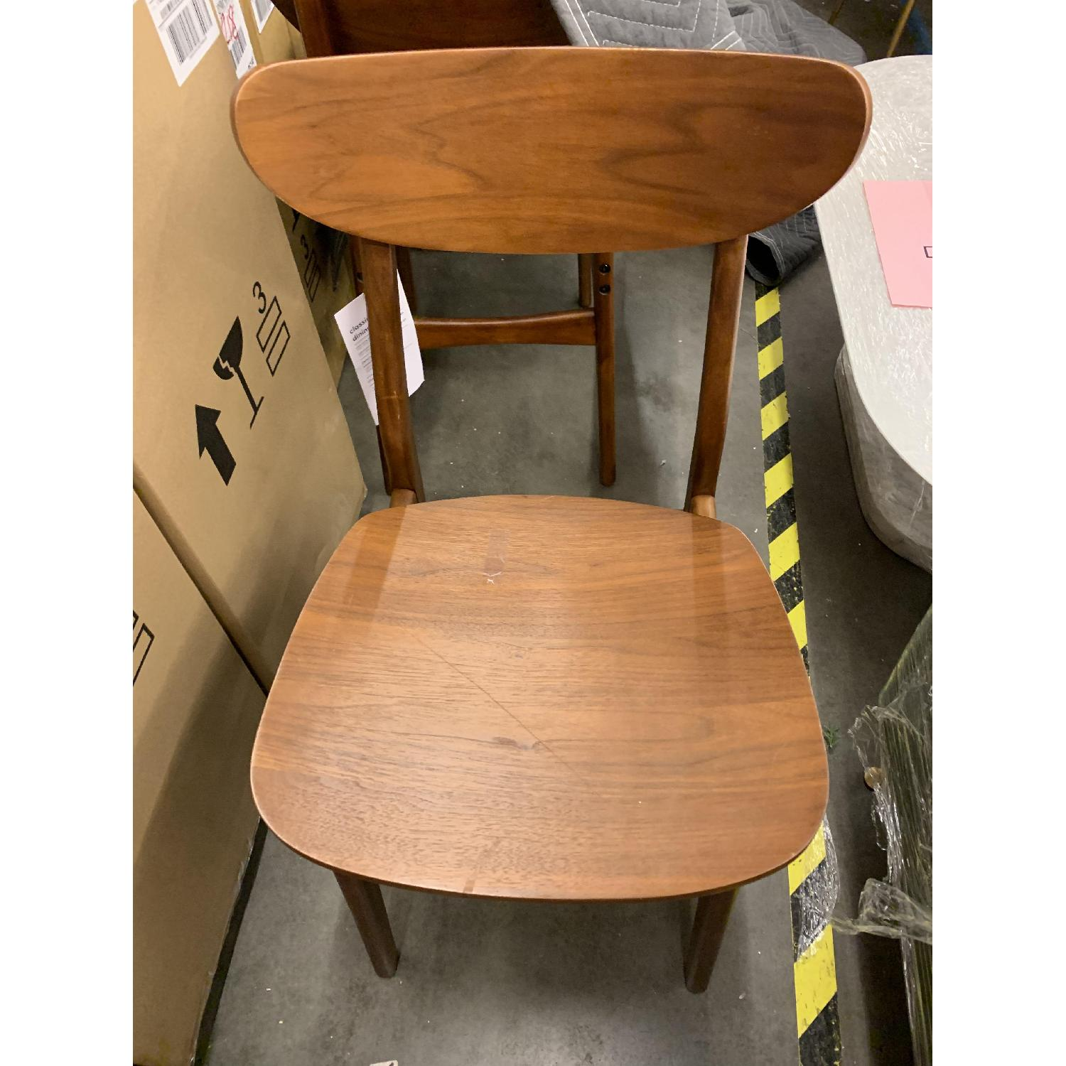 West Elm Classic Cafe Wood Dining Chairs in Walnut - image-3