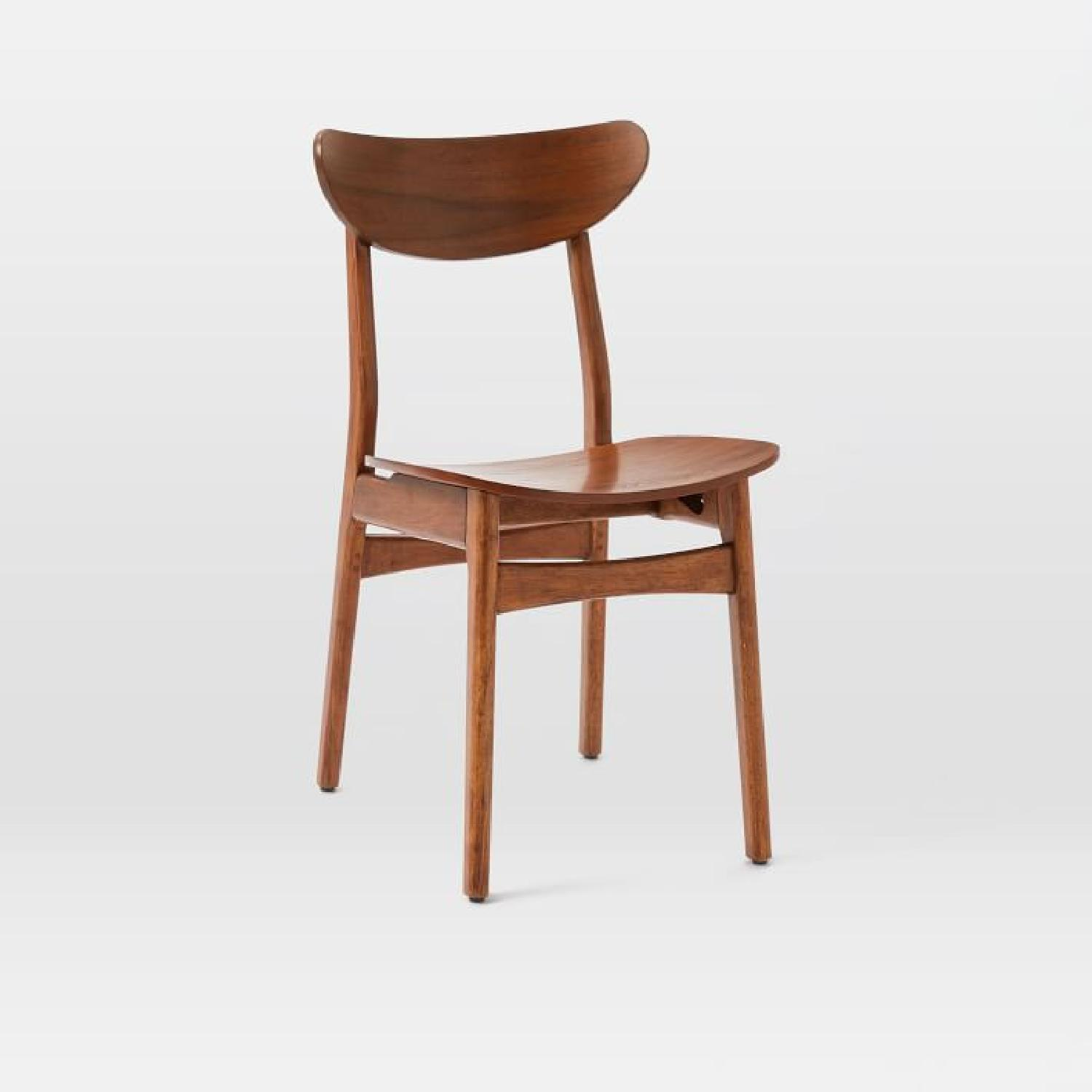West Elm Classic Cafe Wood Dining Chairs in Walnut - image-0
