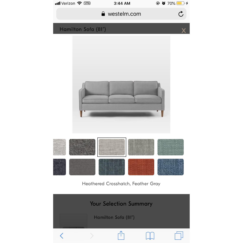 West Elm Hamilton Upholstered Sofa - image-1