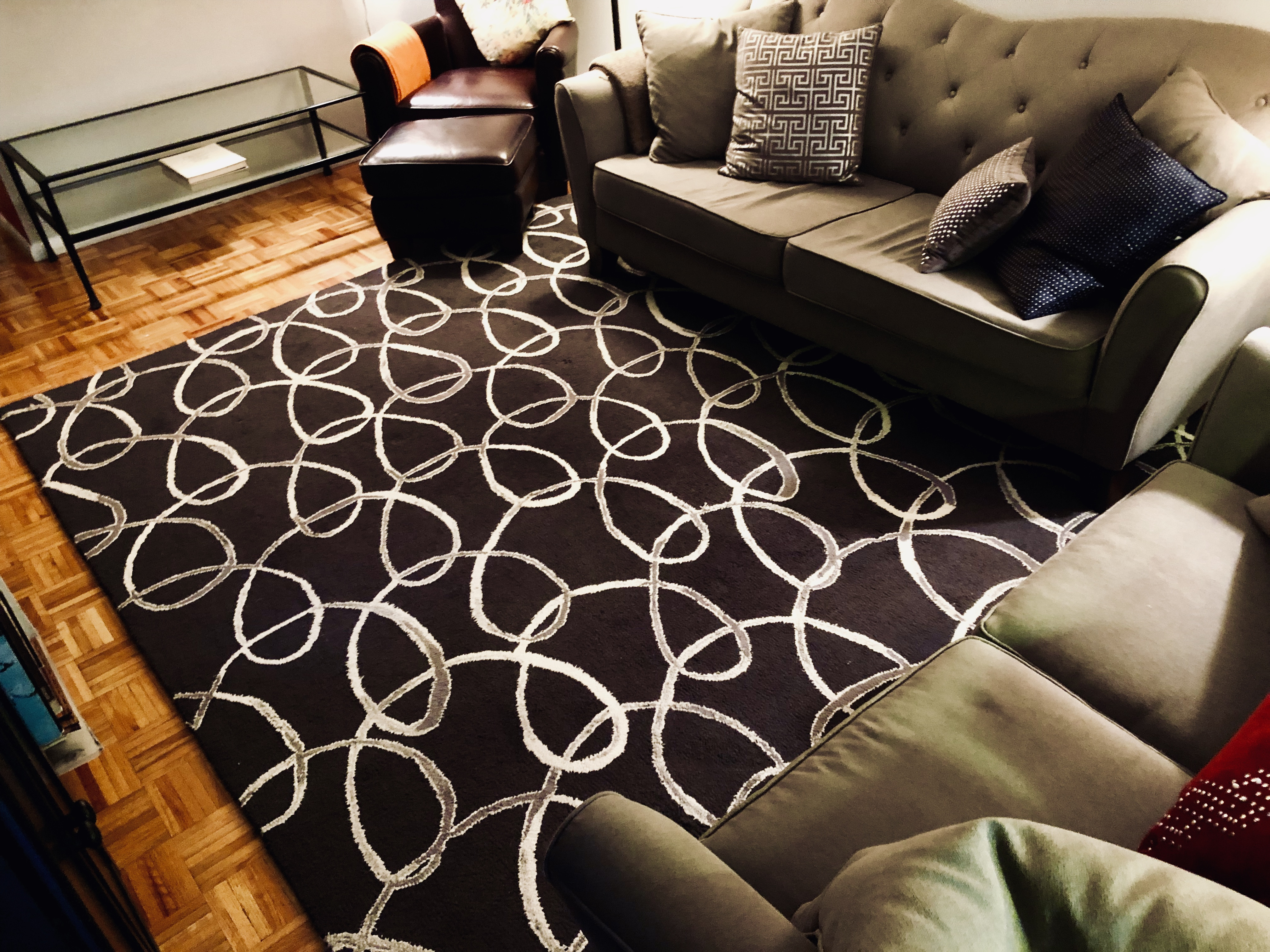 West Elm Black & Ivory Area Rug