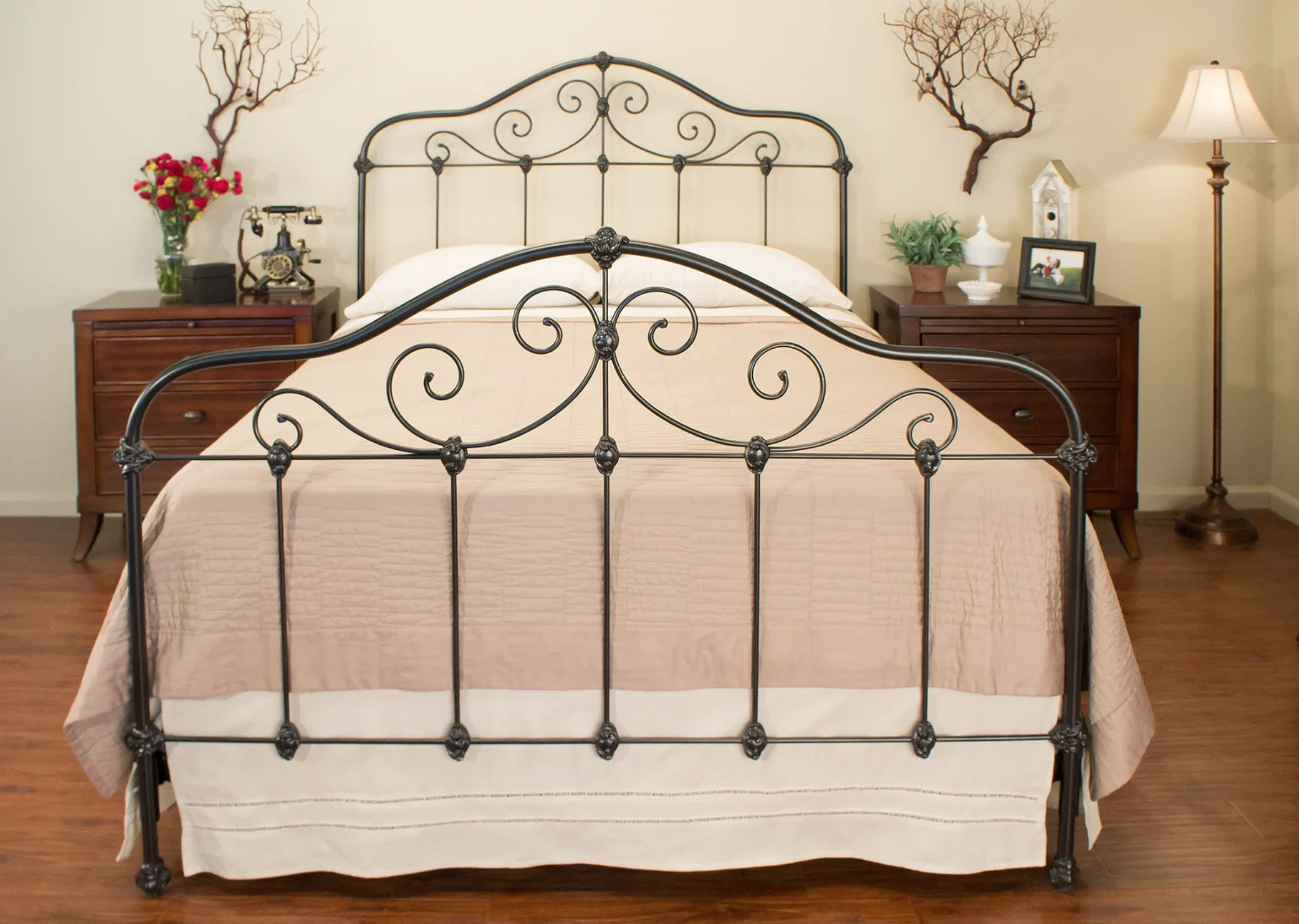 Benicia Foundry Claiborne Wrought Iron Twin Bed & Trundle