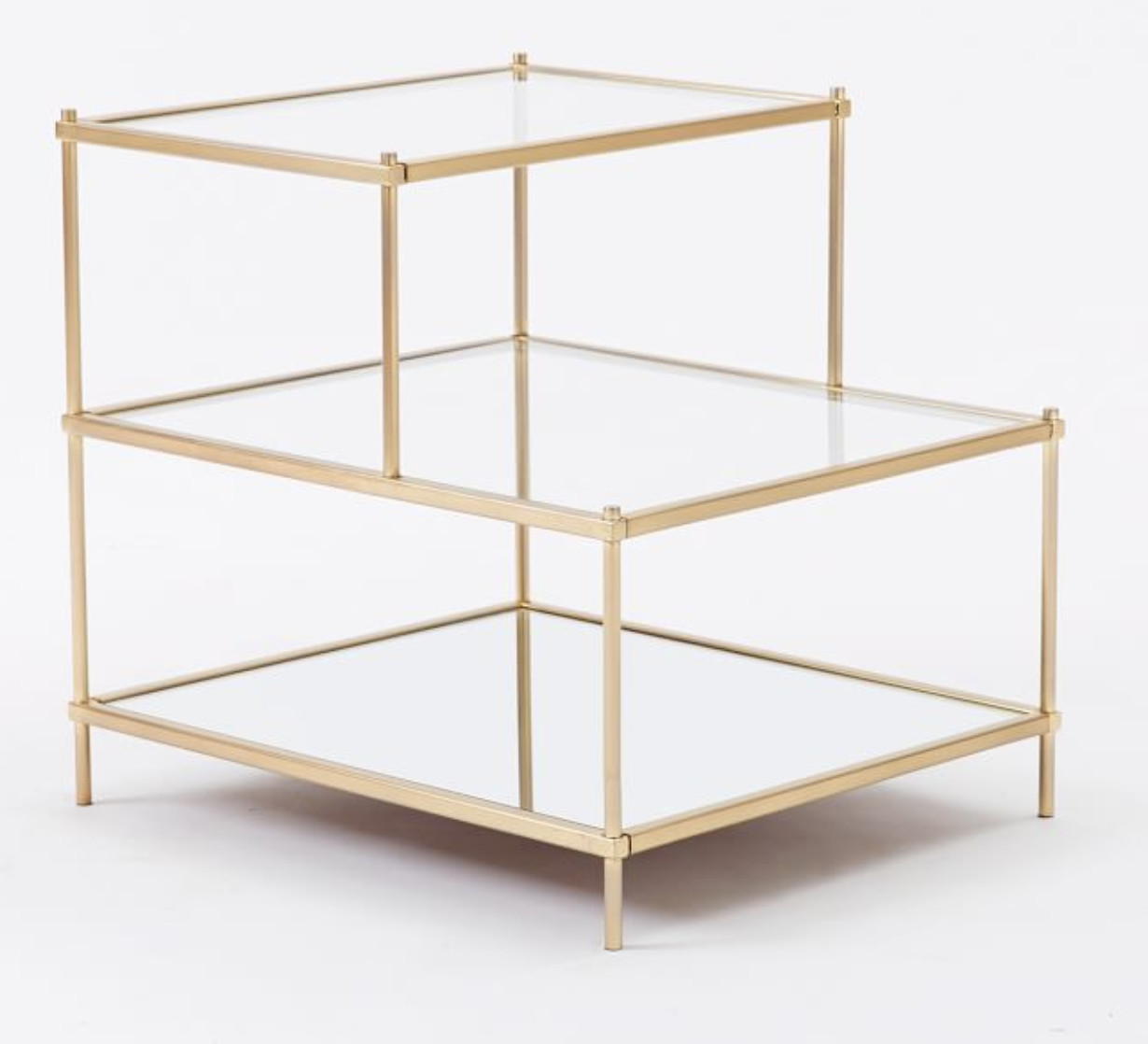 West Elm Terrace Antique Brass Side Table