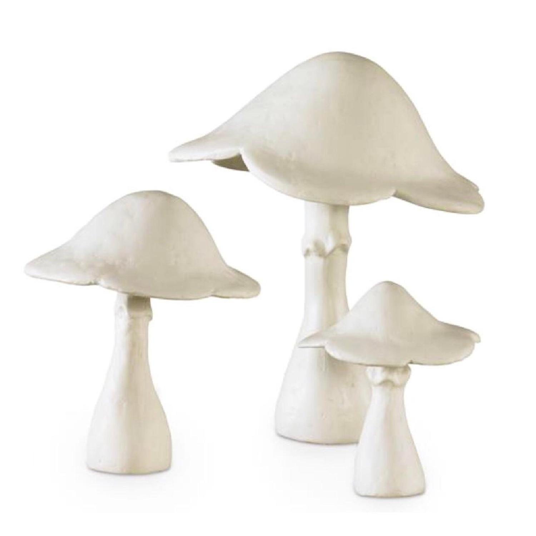 Organic Modern Gesso Mushroom Sculptures - image-1