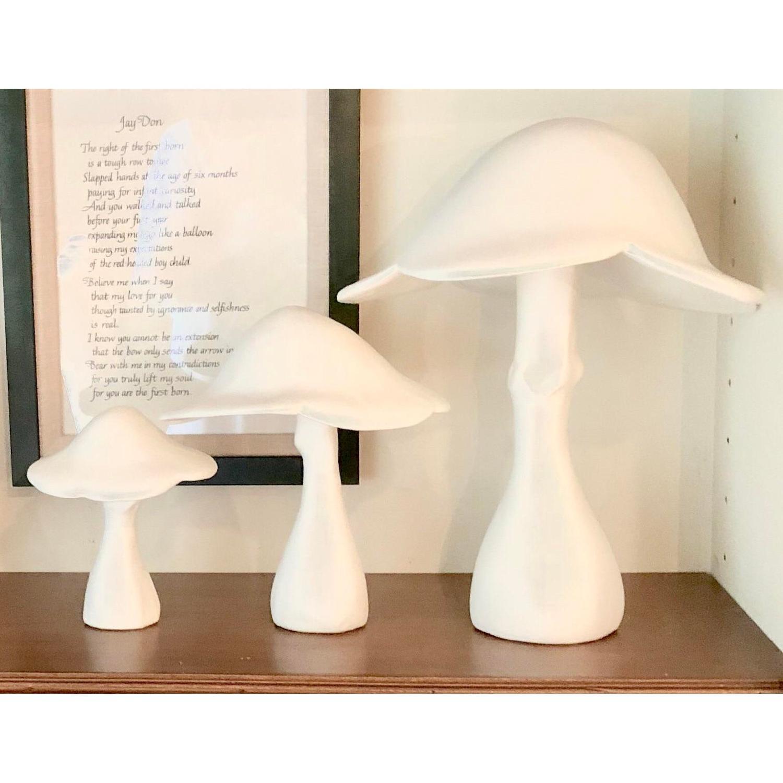 Organic Modern Gesso Mushroom Sculptures - image-2