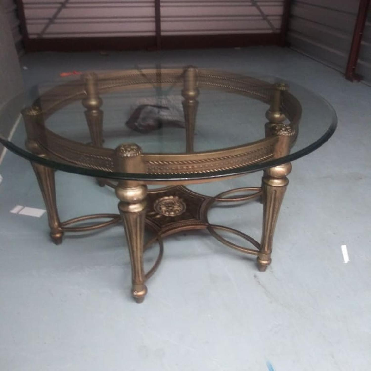 Glass Top Coffee Table - image-1