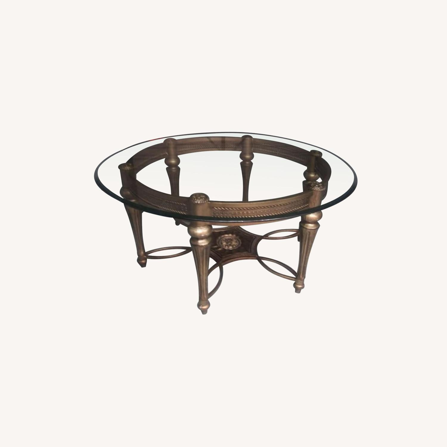 Glass Top Coffee Table - image-0