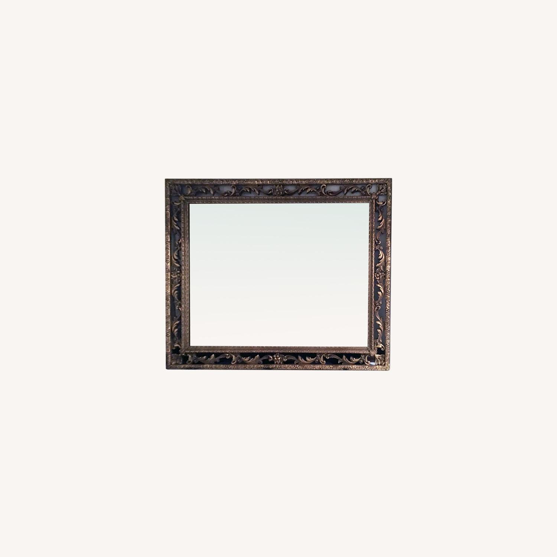 Italian Florentine Antique Hand Carved Giltwood Frame Mirror - image-5