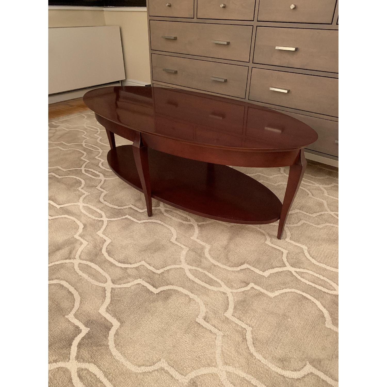 Jofco Dark Brown Wood Coffee Table w/ Shelf - image-2