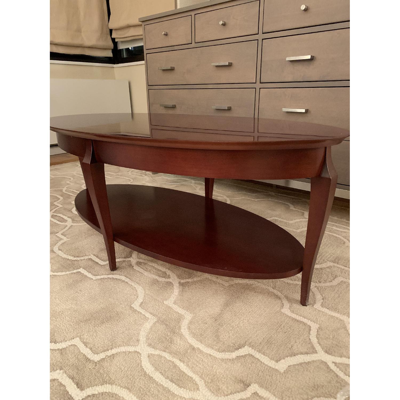 Jofco Dark Brown Wood Coffee Table w/ Shelf - image-3