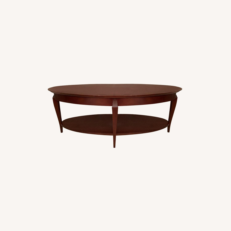 Jofco Dark Brown Wood Coffee Table w/ Shelf - image-0