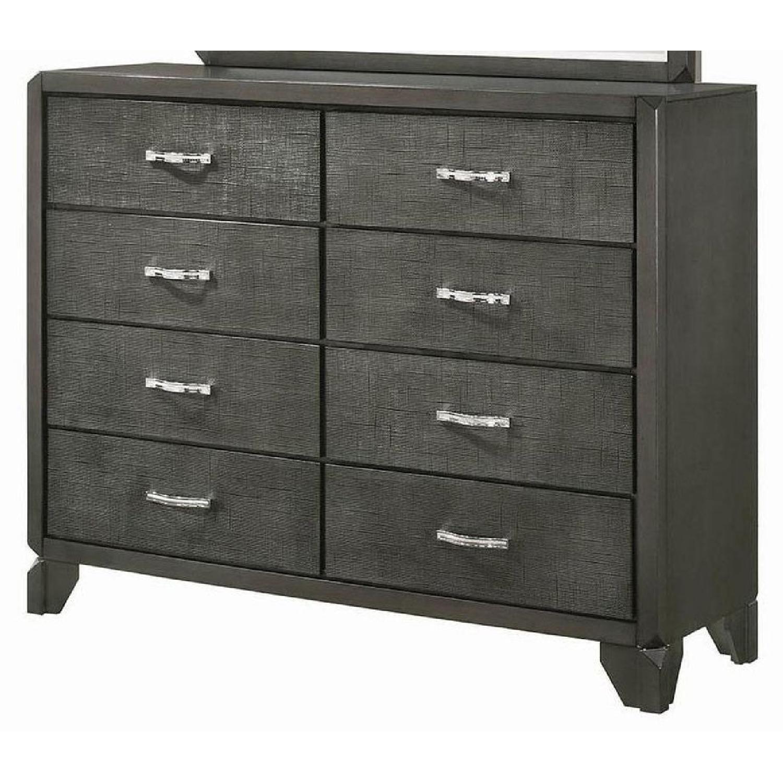 Modern TV Stand in Black Gloss Finish w/ Storage - image-7