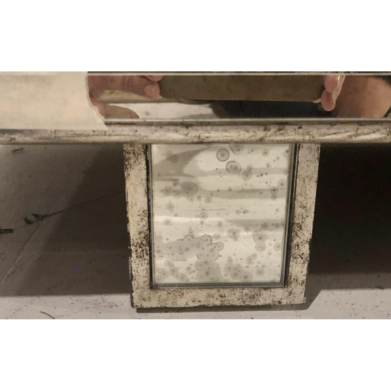 James Mont Silver Leafed Mirrored Credenza - image-6