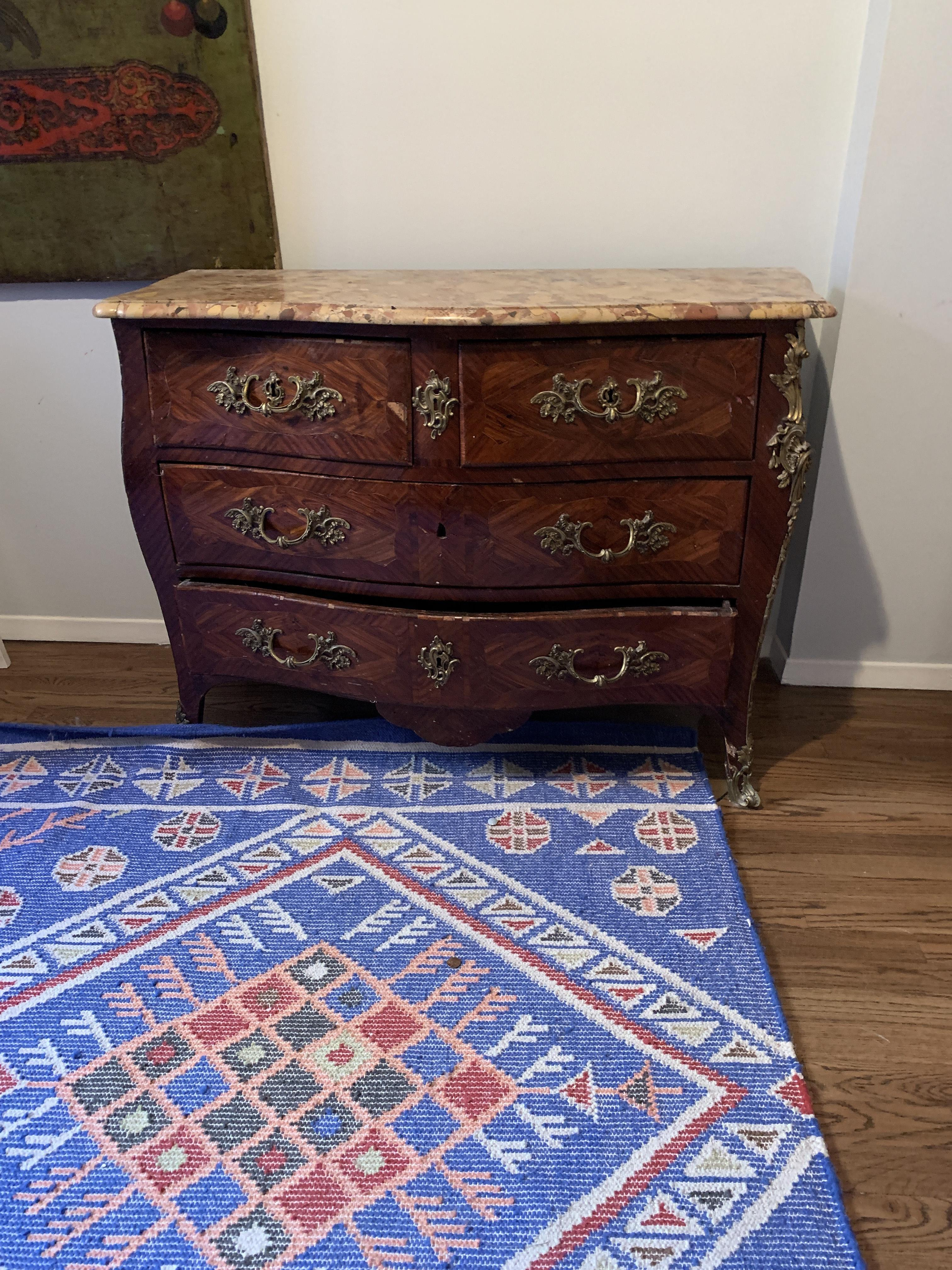 Antique Wood Dresser w/ Marble Top