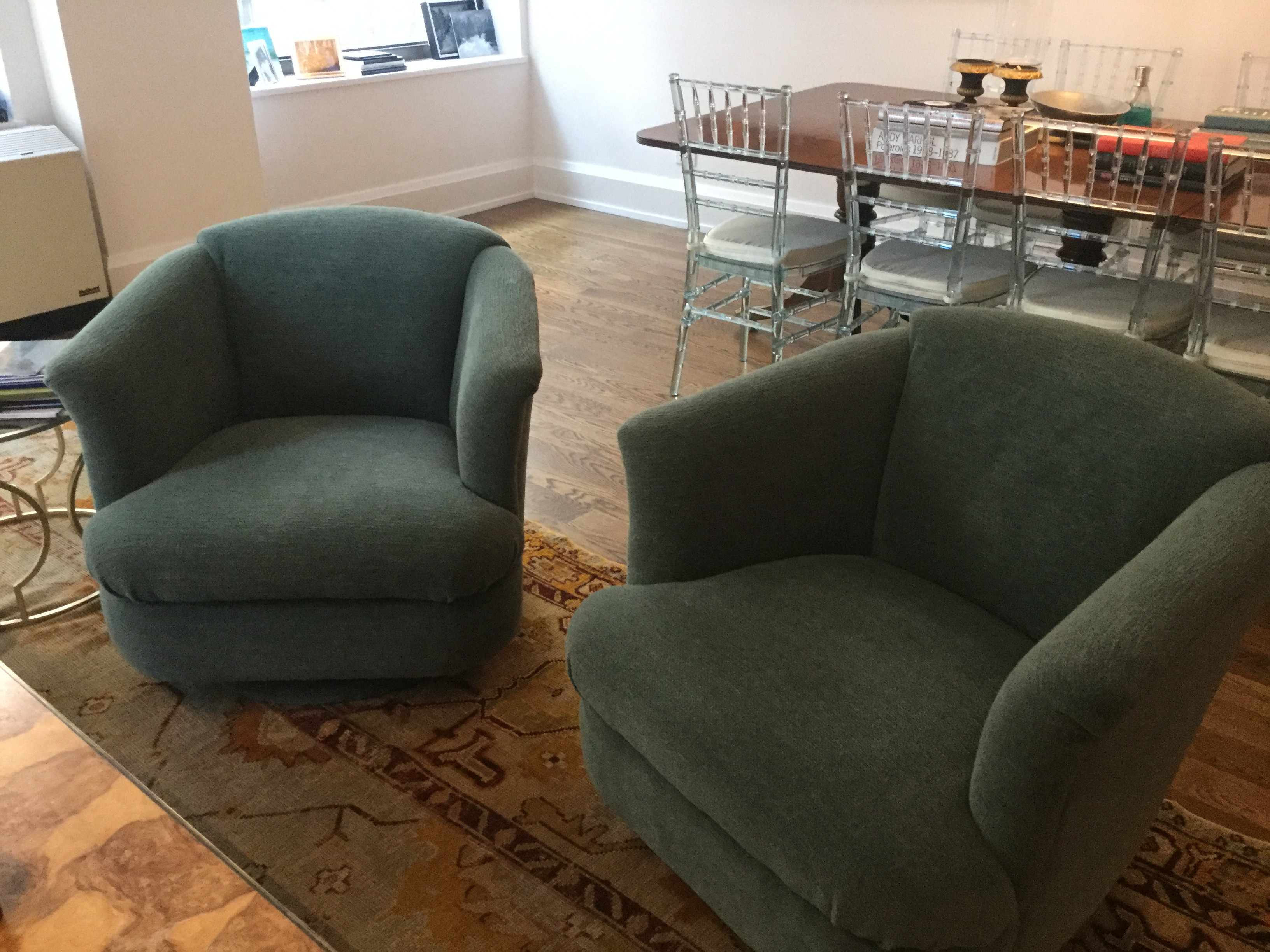 Upholstered Swivel Chairs