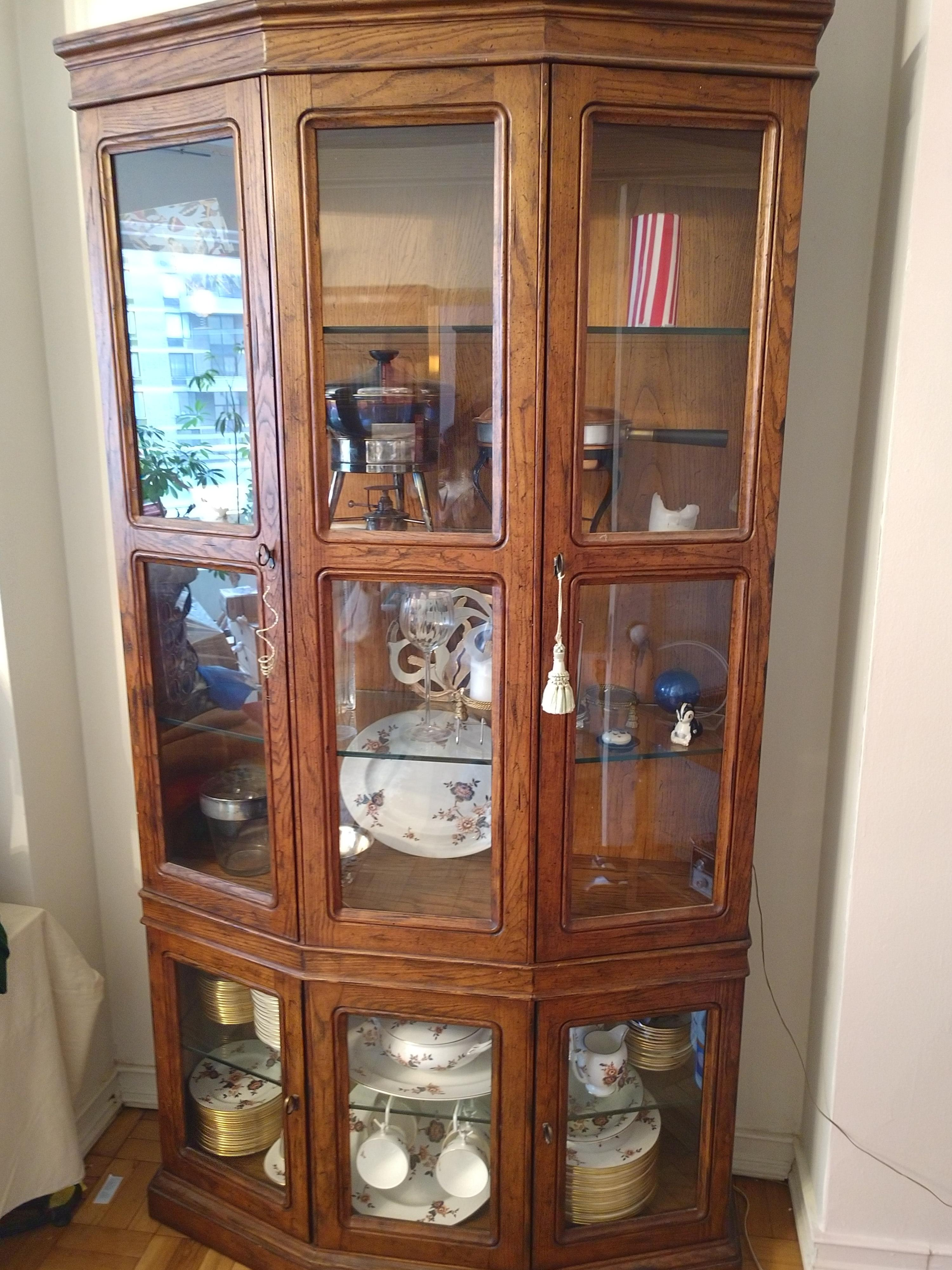 Wood & Glass China/Curio Cabinet