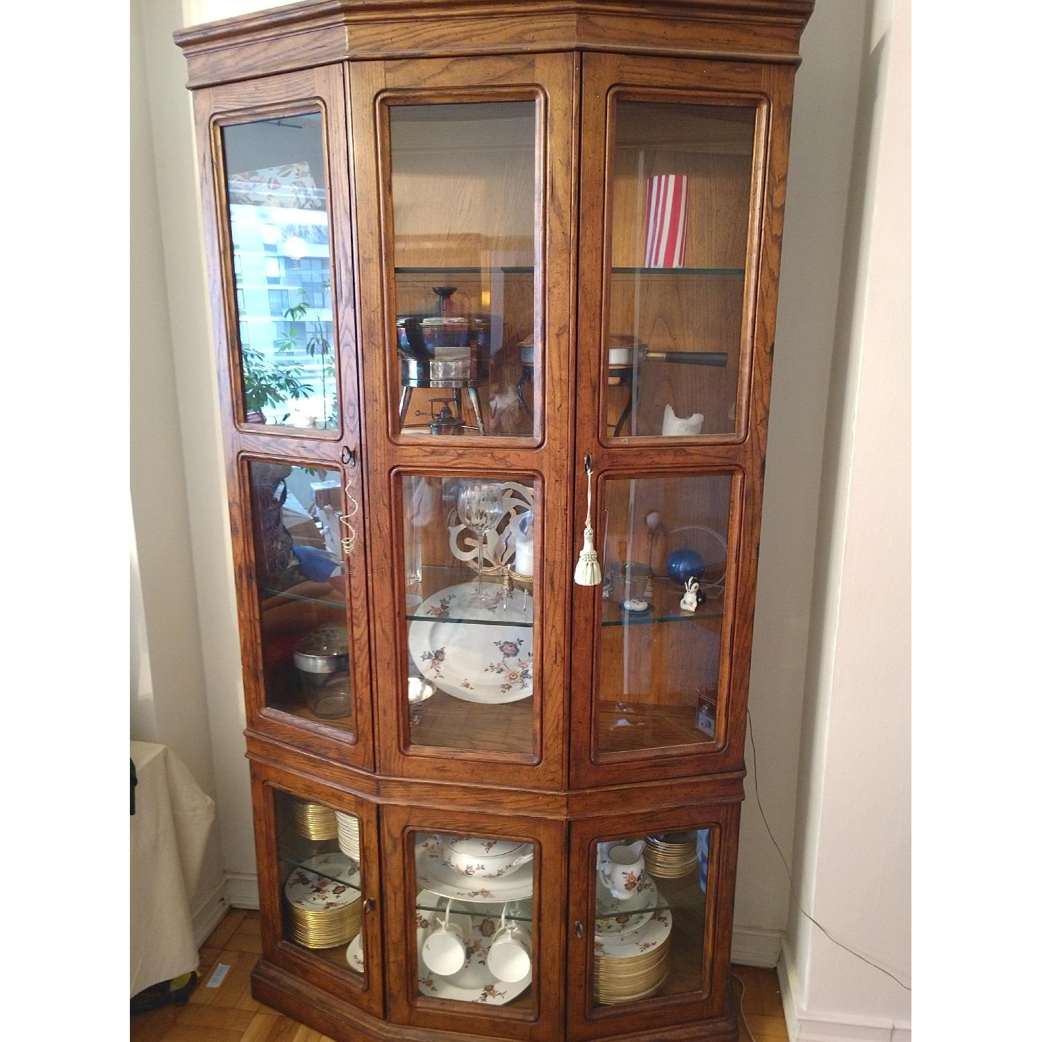 Wood & Glass China/Curio Cabinet - image-2