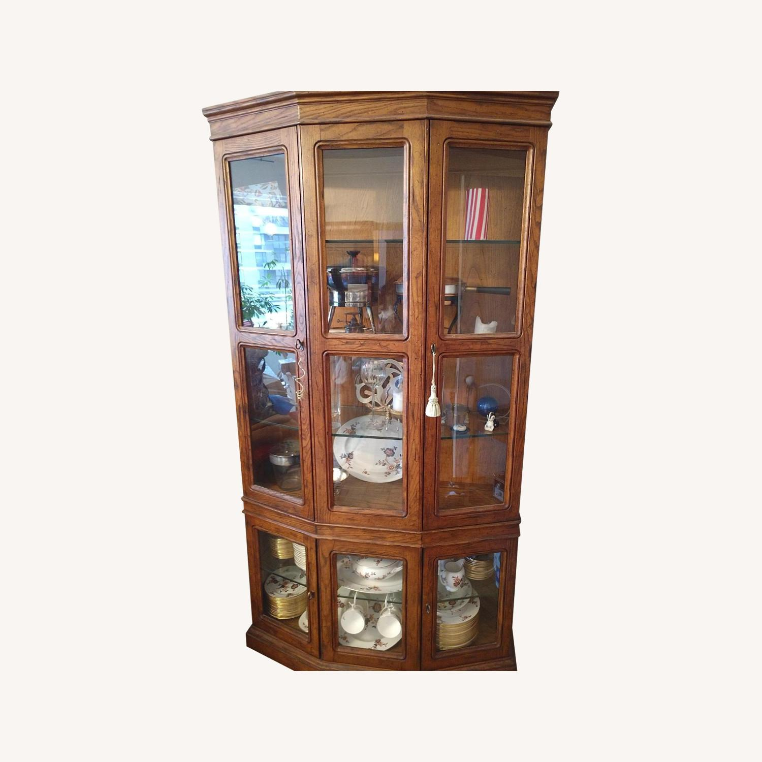Wood & Glass China/Curio Cabinet - image-0