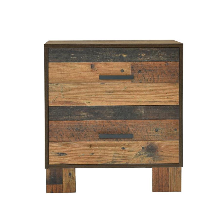 2-Drawer Nightstand in Rustic Pine Finish - image-2