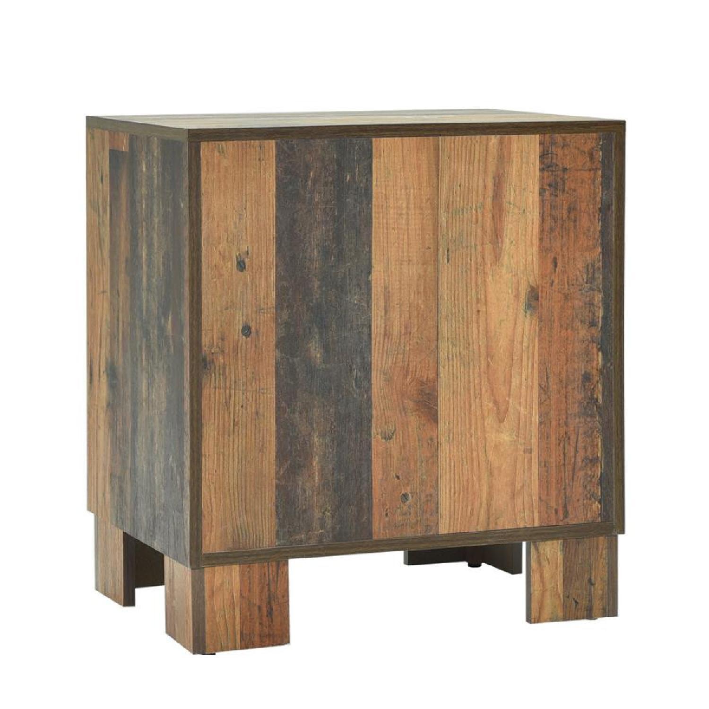 2-Drawer Nightstand in Rustic Pine Finish - image-3