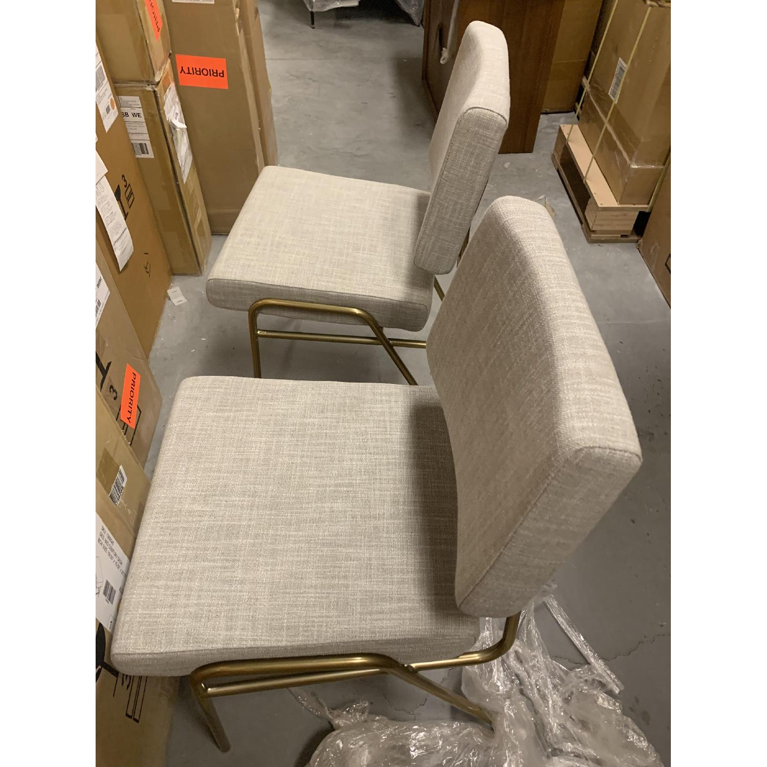 West Elm Wire Frame Dining Chair in Platinum - image-1