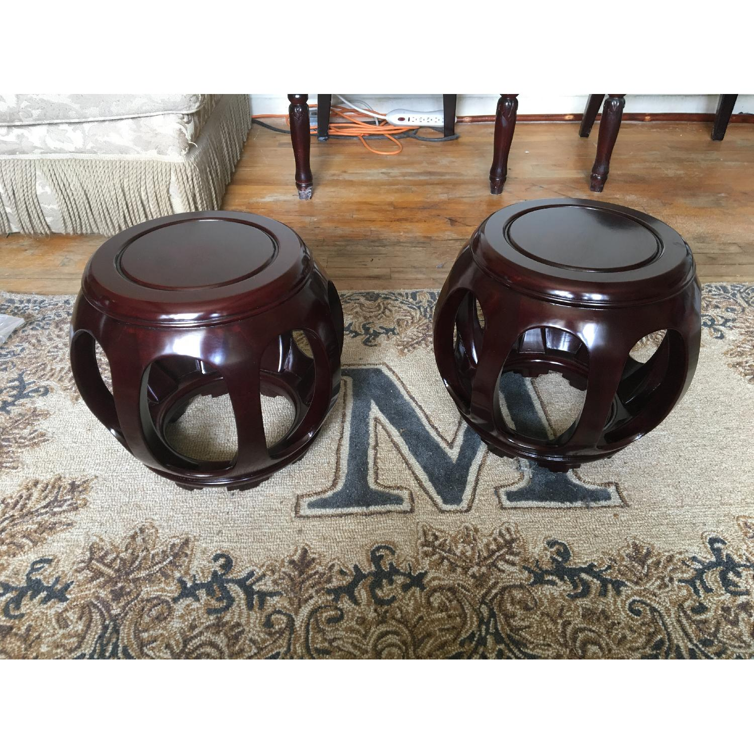 Sculptural Asian Stools/End Tables - image-1