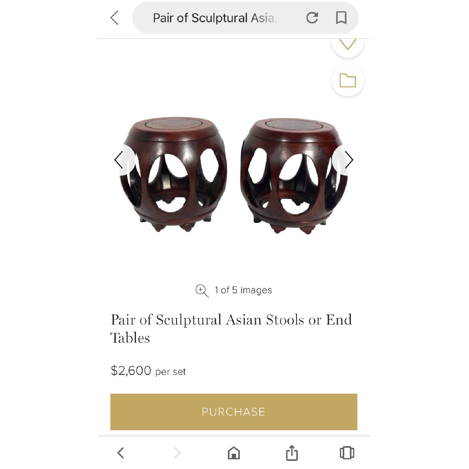 Sculptural Asian Stools/End Tables - image-3