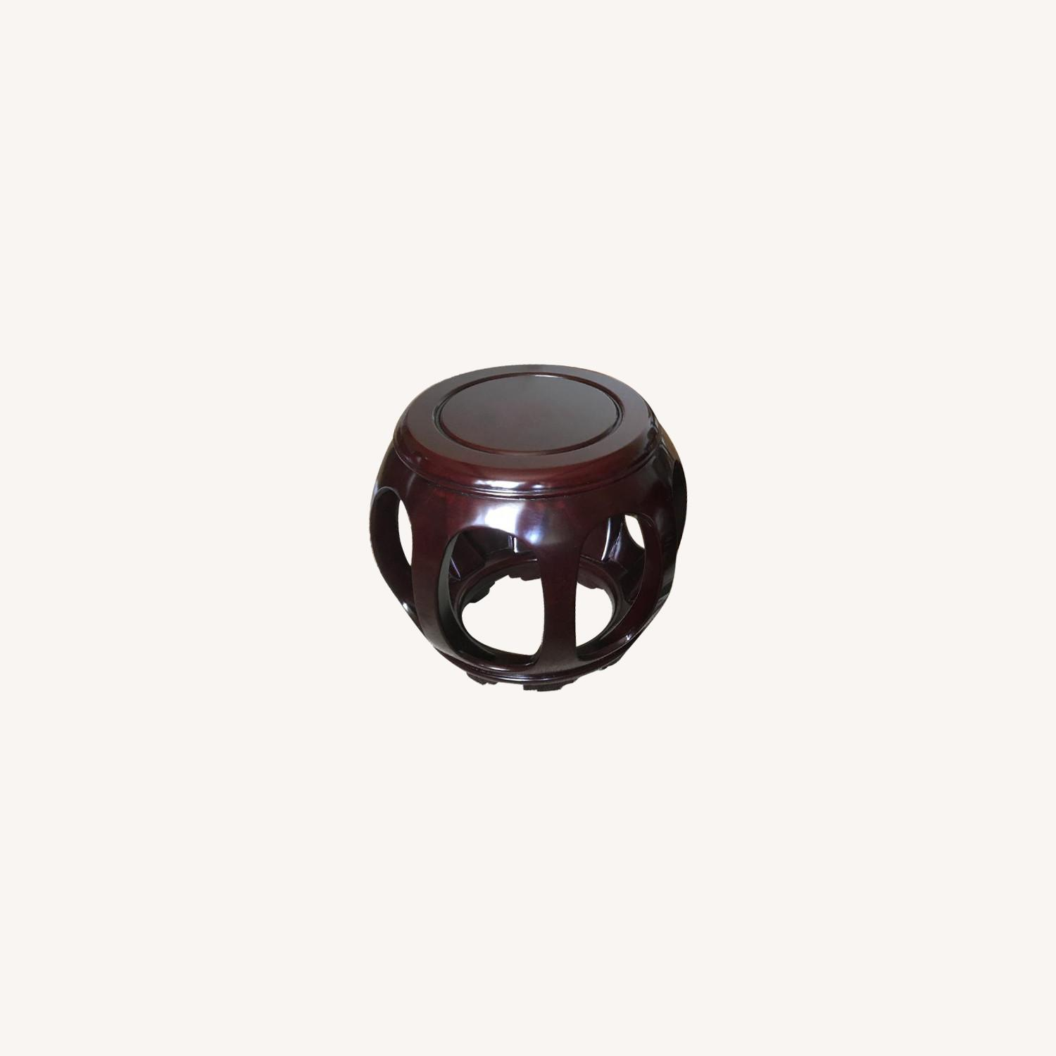 Sculptural Asian Stools/End Tables - image-0