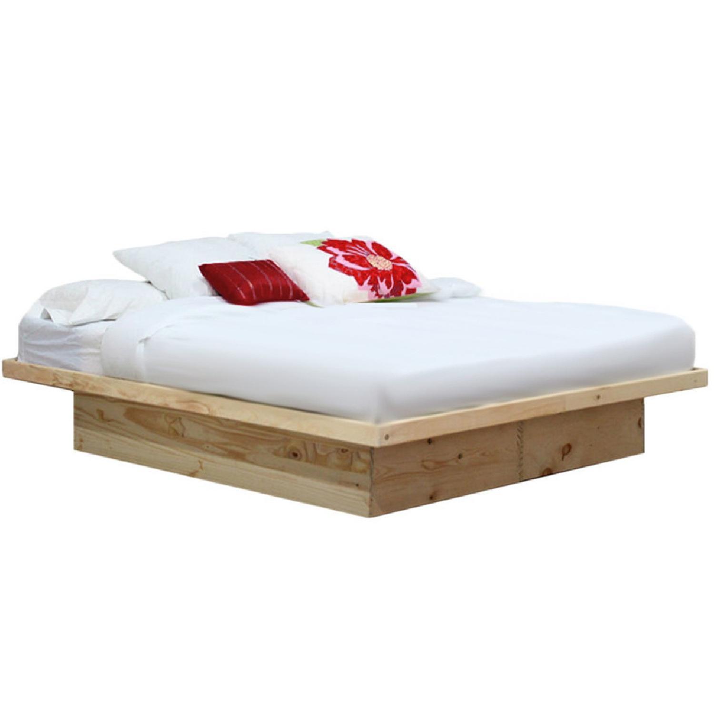 Gothic Cabinet Craft Platform Wood Bed Frame - image-0