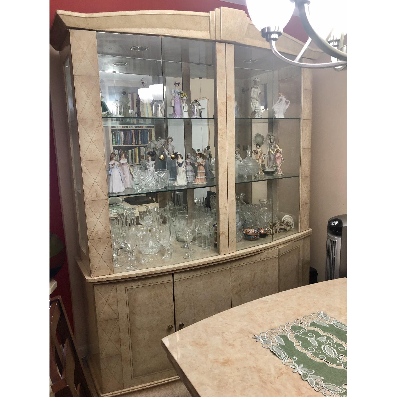 Seaman's Natural Wood & Italian Lacquer China Cabinet - image-2
