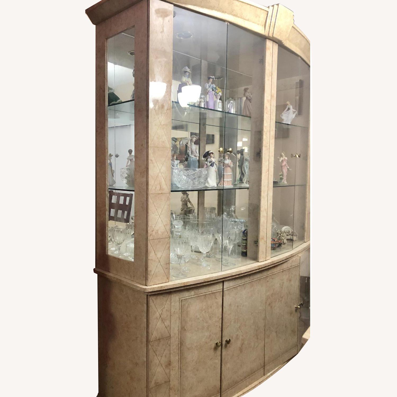 Seaman's Natural Wood & Italian Lacquer China Cabinet - image-0