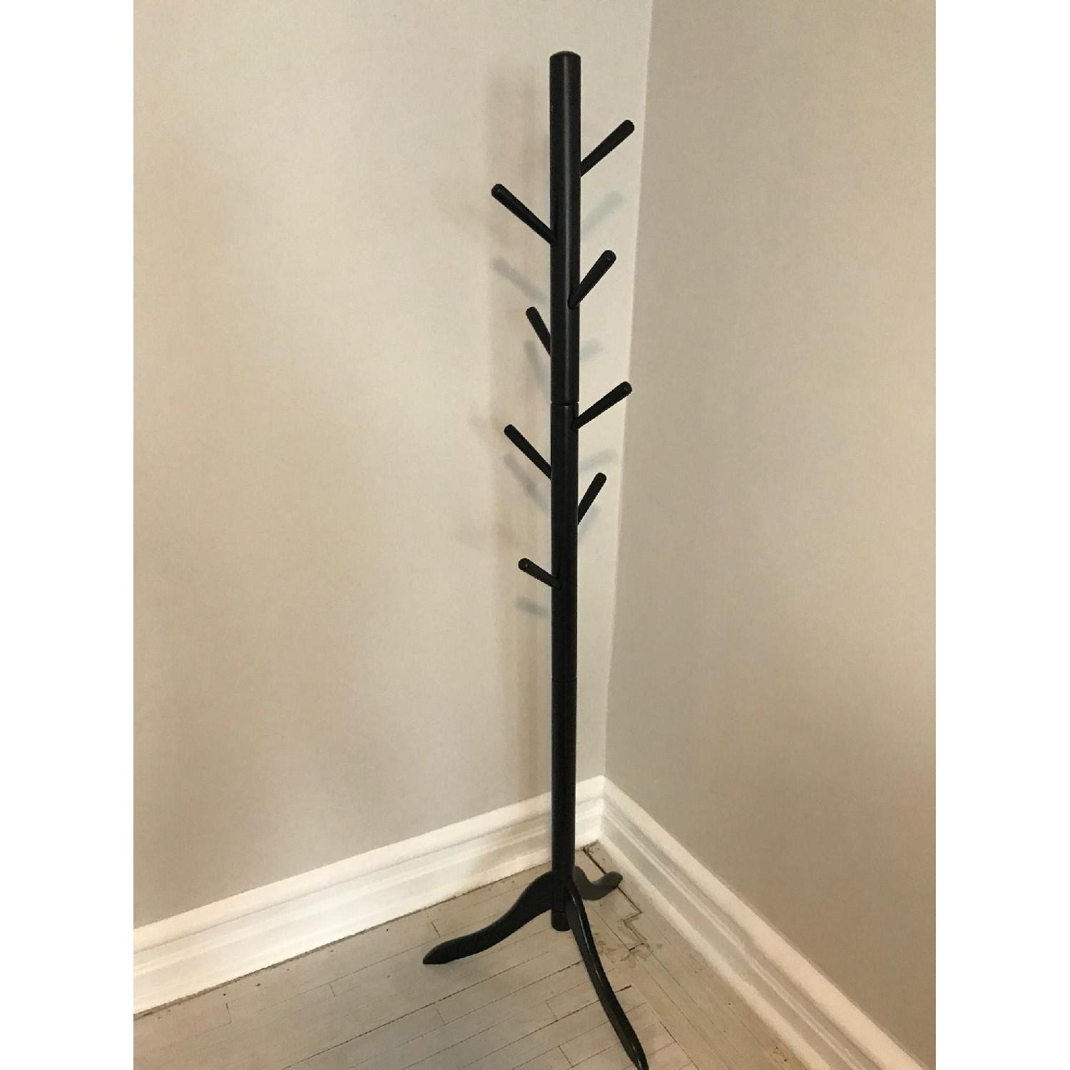 Black Wood Coat Stand - image-1