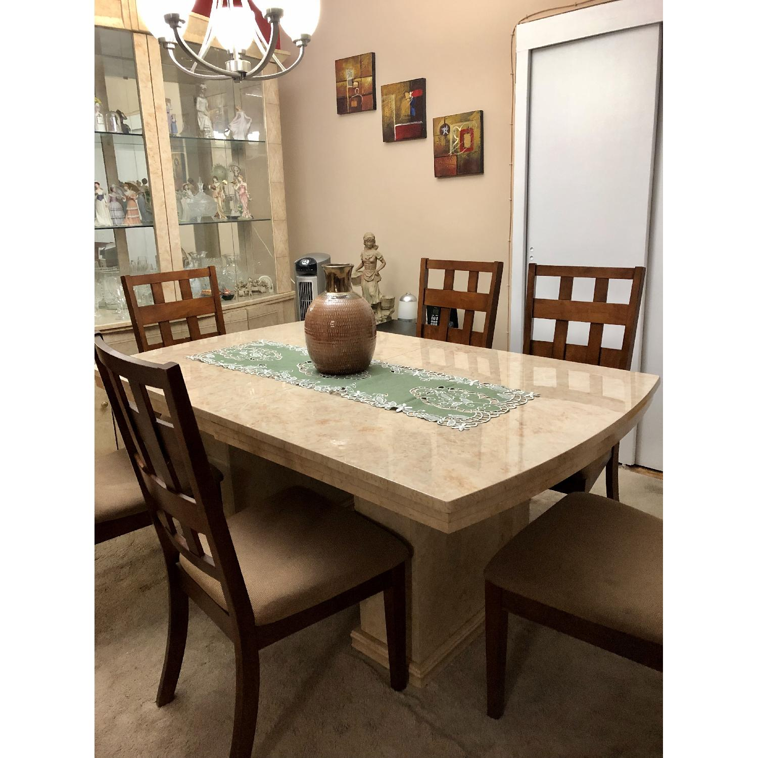 Seaman's Furniture Natural Italian Lacquer Dining Table - image-1
